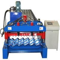 Buy cheap 4kw Glazed Tile Roll Forming Machine , Hydraulic Cutting Tile Making Machine from wholesalers