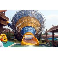 Wholesale Medium Fiberglass Tornado Water Slide Hurricane Aqua Slides for Swimming pool Funny game from china suppliers