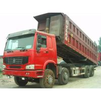 Quality Howo 8 by 4 heavy duty dump truck 8 Meters Front Tipper 45 tons loading for construction / mining for sale