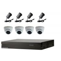 Wholesale Dome IP Camera 4 Channel NVR Kit , IP Security Camera Kit With 5pcs Power Supply from china suppliers