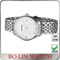 Wholesale Mens Sport Stainless Steel Bracelet Watch / White Dial Watch With Metal Strap from china suppliers