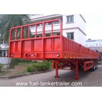 Wholesale Carbon Steel Material Side Wall Trailer / Flatbed Semi-trailer /3 Axle Truck Trailer Transport Bulk Cargo from china suppliers