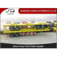 Wholesale 3 Axle 40 Ton Flatbed Container Trailer 40 Feet Semi Trailer With Bogie Axle from china suppliers