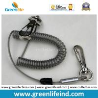 Wholesale High Pulling Wire Core PU Coated Spiral Coiled Tool Lanyard from china suppliers