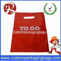 Wholesale Red Customer Packaging Die Cut Handle Plastic Bags For Shopping from china suppliers