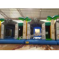 Wholesale Printing Tree Jungle 0.55mm PVC Tarpaulin Small Bouncy Castles Inflatable from china suppliers
