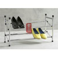 Wholesale 2 Layetr Metal Adjustable Shoe Display Racks For Supermarket from china suppliers