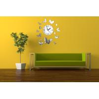 Wholesale Modern Butterfly Design Acrylic Decorative Wall Clock with Various Colors from china suppliers