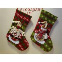 Wholesale High Quality Santa and Reindeer Christmas Stocking from china suppliers