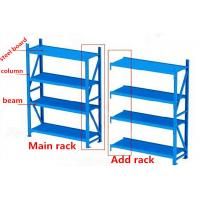 Wholesale Steel Column Beam Warehouse Storage Racks 4 Layers In Blue Color from china suppliers