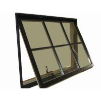Wholesale 1.2mm - 1.4mm profile thickness gray aluminum awning windows for hospital, school from china suppliers