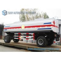 Wholesale Mild Steel Q235 / Q345 18000L Mechanical / Pneumatic Tanker Trailers 2 Axle from china suppliers