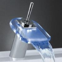 Wholesale LED Faucet with Brass Body and Zinc Handle, Chrome-plated, Made of Glass from china suppliers