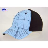 Wholesale Cotton Black and Light Blue Custom Baseball Caps , Washed Man Baseball Cap from china suppliers