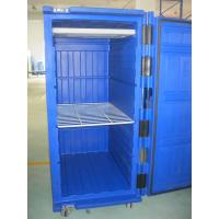 Wholesale 900 Litre Olivo Green Large Insulated Plastic Rolling Cold-chain Logistics Container from china suppliers