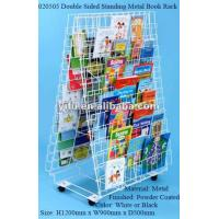 Wholesale Double Sided Standing Metal Book Rack from china suppliers