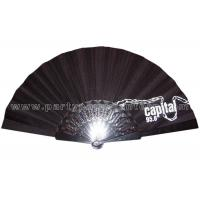 Quality CMYK Printing Fabric Hand Fan For Advertising /  Souvenirs / Premium General Applicability for sale