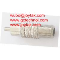Wholesale Coaxial Adapter Coaxial Adaptor RCA Male To F Female Screw On CCTV Antenna / RCAM.FF.03 from china suppliers