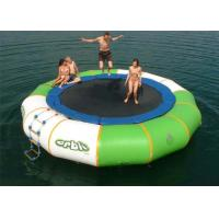 Wholesale Exciting 40kg - 200kgs Inflatable Water Toys , Air Bouncer Water Trampolin Waterproof / Fire Retardant from china suppliers