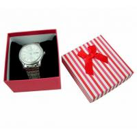 Wholesale Plain Watch Gift Jewelry Paper Boxes , White Gift Boxes With Lids from china suppliers