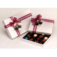 Wholesale Neat Choclate Custom Packaging Boxes With Ribbon , Packaging Cardboard Boxes from china suppliers