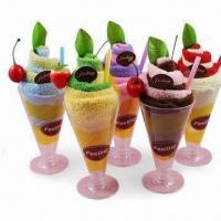 Wholesale Promotional Towel Set in Ice-cream Shape, Made of 100% Cotton from china suppliers