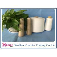 Wholesale Industrial Ring Spun 100 Polyester Knitting Yarn For Garment , Optical White Color from china suppliers