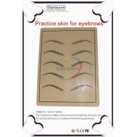 Wholesale Natural rubber practice skin for 10pcs eyebrows from china suppliers