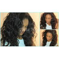 Wholesale Natural Black Unprocessed Virgin Brazilian Hair , Water Wave Human Hair Extensions  from china suppliers