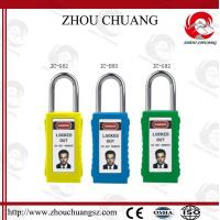 Wholesale Different Key System 38mm Steel Shackle PVC Tag Safety Long Body Padlock from china suppliers