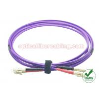 Wholesale OM4 Fiber Patch Cord LC - LC Duplex Fiber Patch Cable Stable Performance from china suppliers