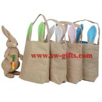 Buy cheap Easter eggs baskets jute bags cute gifts bunny mascot the easter bunny cotton bag decorations toys dinosaur easter egg from wholesalers