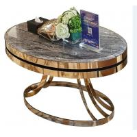 Wholesale stone top Brass  stainless steel metal side table/End table/coffee table/C table, hotel furniture,casegoodsTA-0087 from china suppliers