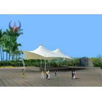 Wholesale Blue / White Park Shade Structures Garden Sail Awning High Transmitting Feature from china suppliers