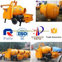 Pully JBT40-P1 compact diesel engine mini concrete mixer pump for sale