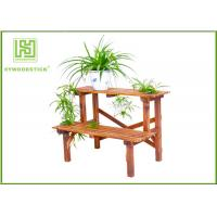 Wholesale Standing Outdoor Durable Bamboo Flower Pots Garden Shelves For Home from china suppliers