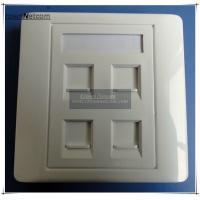 Wholesale 4 Ports Network 86X86 Type RJ45 Faceplates For Network Keystone Jacks UK Type Face plate from china suppliers