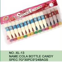 Wholesale Sweet Straw Bottle Cola Sugar Powder Candy With Different Flavor / Color from china suppliers