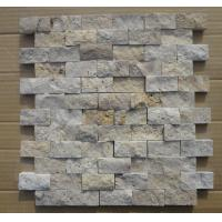 Wholesale Natural Stone Mosaic Chinese Travertine Mosaic China White Travertine Wall Mosaic Pattern from china suppliers