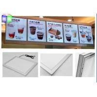 Wholesale Extrusion Metal Snap Frame LED Light Box Edge Lit Acrylic Sheet For Menu from china suppliers