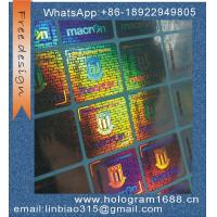 Wholesale custom made serial number hologram sticker holographic label hologrm sticker from china suppliers