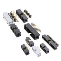Wholesale 2.54mm pitch double row connector box header for PCB board from china suppliers
