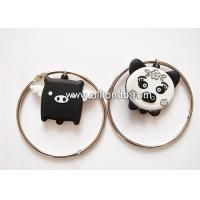 Wholesale Creative cartoon pig design pvc keychain with bracelet unique luggage tag shape ornaments key ring from china suppliers