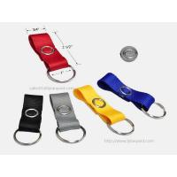 Buy cheap Short Polyester Flat Key Chain Strap, Fashion Fabric Key Chain with Metal Snap Closure from wholesalers
