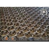 Wholesale Hex Mesh AISI321 with round Holes 8mm | 20mm height X 2mm thk | 500x500mm from china suppliers