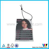 Wholesale C2S Matt Surface Printable Paper Tags with black elastic cord for hair extensions packaging from china suppliers