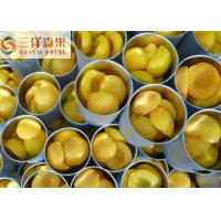 Quality Half Sliced or Diced Organic Canned Fruit Canned yellow peaches in syrup for sale