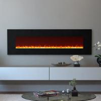 """Wholesale 95"""" wall mounted electric  fireplace multi-colorful flame effect log or crystal stone fuel Under TV decorating Room from china suppliers"""