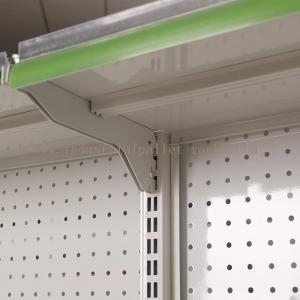 Quality Stores Supermarket Shelves Commercial Storage Rack Green / Grey / Orange / Pink / Blue for sale