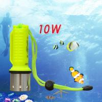 Wholesale IP 68 ABS Aluminum Alloy High Power 10W CREE XML-T6 Diving Flashlight Lamp with Magnetic from china suppliers